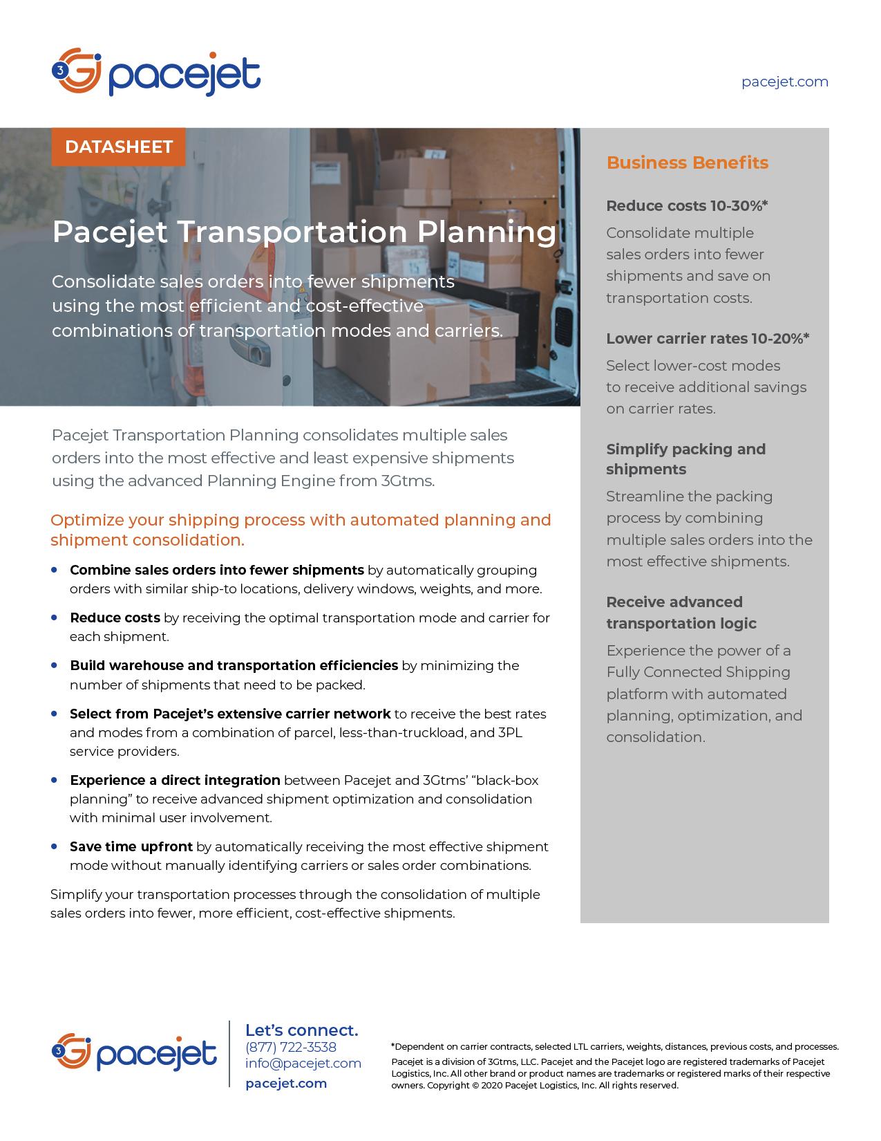 Pacejet_Transportation_Planning_datasheet
