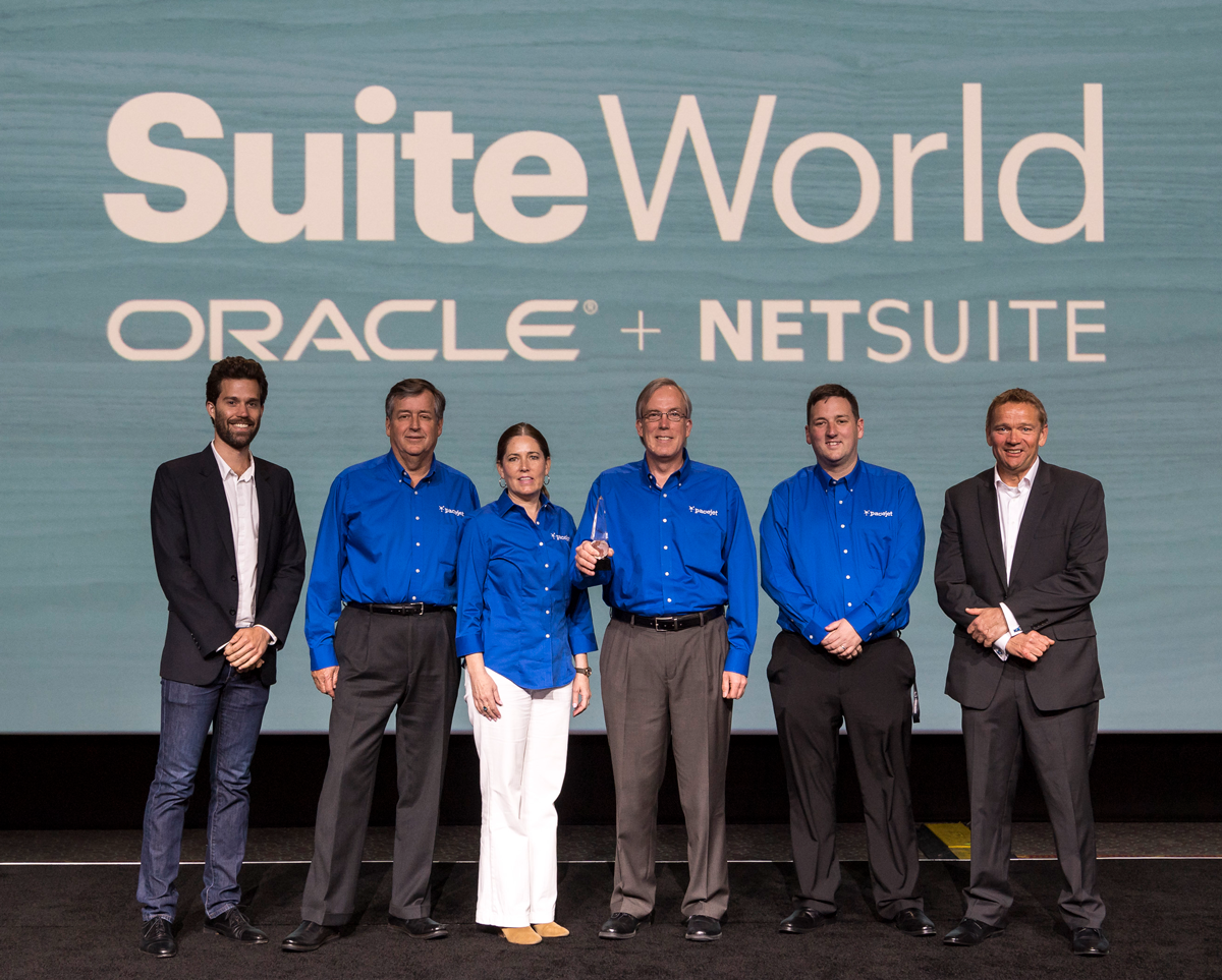Pacejet Team Accepts 2017 SuiteCloud Partner of the Year Award from Oracle NetSuite Global Business Unit